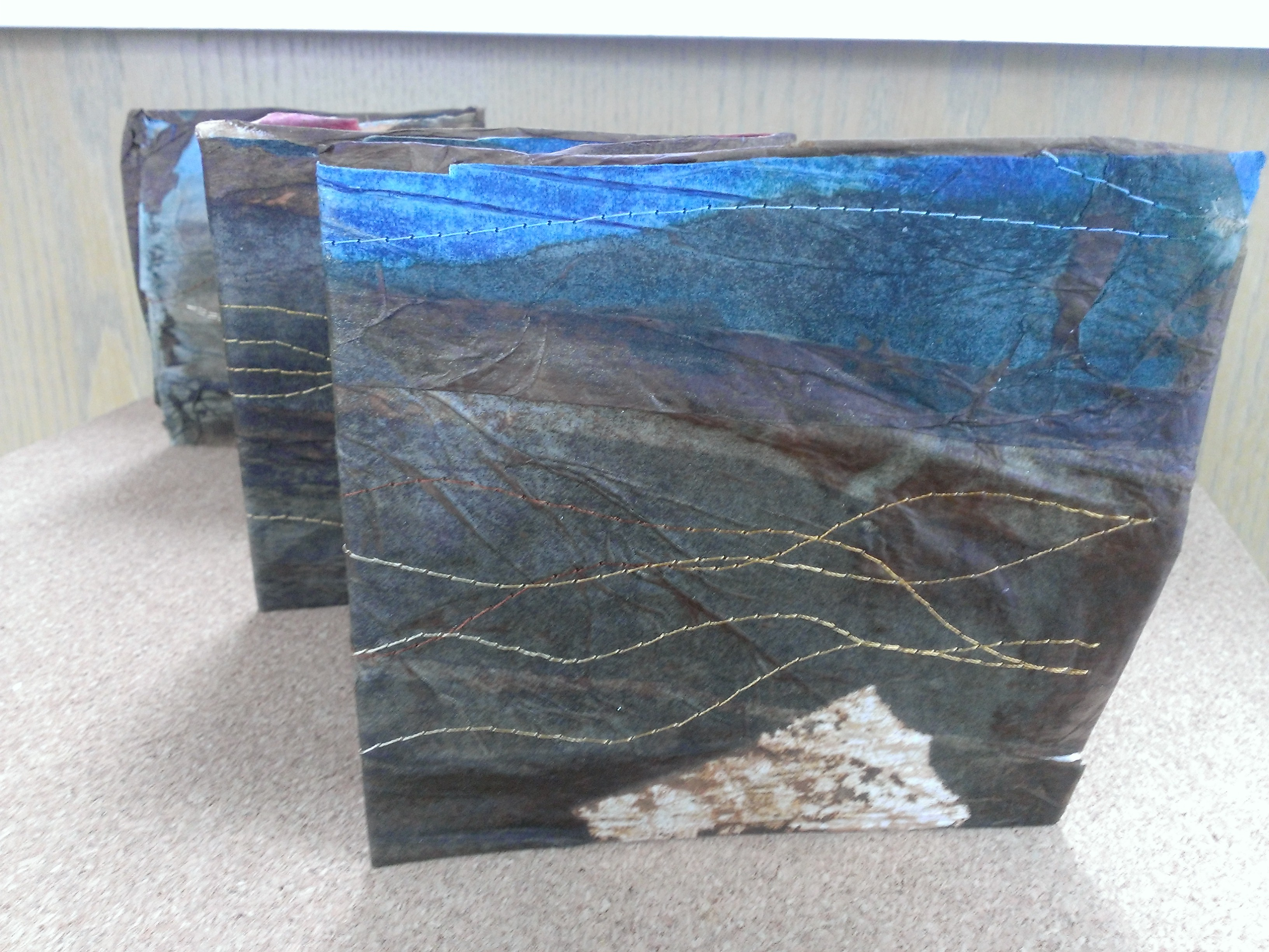 Tactile landscape in accordion fold form