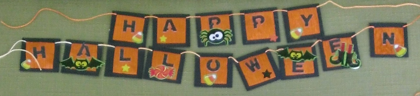 Halloween mini banner